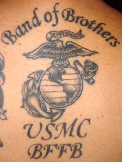 usmc tattoo celebrity 2011. Black Bedroom Furniture Sets. Home Design Ideas