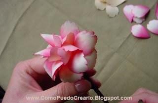 Flor en Biruta de madera  Tutorial