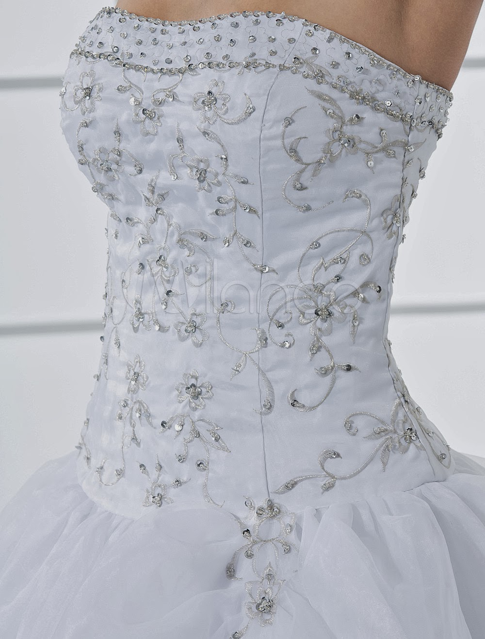 China Wholesale Dresses - Elegant Ball Gown White Quinceanera Dress