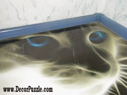 3d floor art murals and self-leveling floor, cat flooring ideas 2015