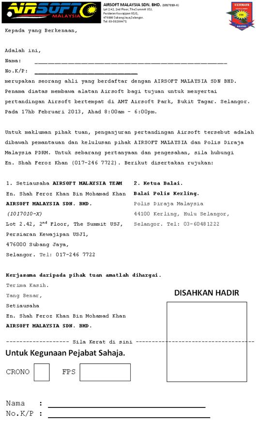 Airsoft speed shooting fan malaysia clearance and invitation letter part 1 stopboris Gallery