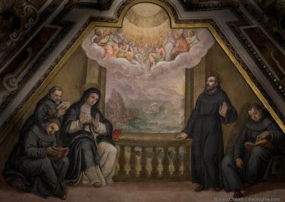 Agostino, Monica, Visione Ostia Trinità