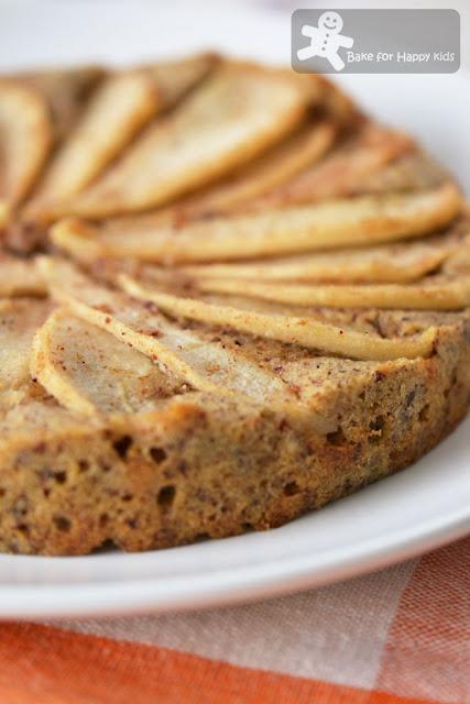 pear pinwheel hazelnut cake