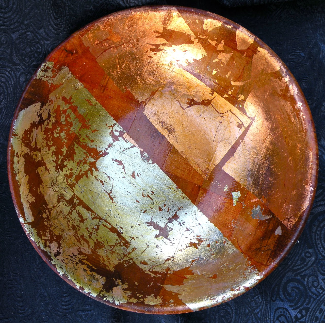 Bowly, Bryan Perrin. Wood, Gold & Silver leaf & Shellac and Acrylic.