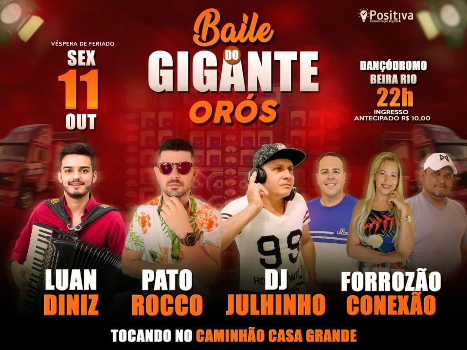 BAILE DO GIGANTE EM ORÓS - SEXTA DIA 11 OUTUBRO
