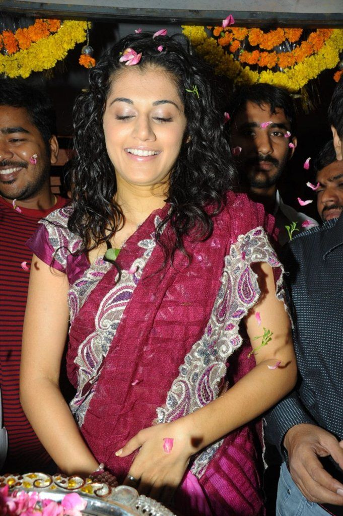 Tapsee Saree Stills