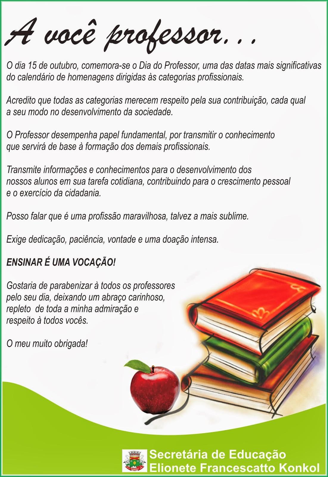 Famosos Secretaria Municipal de Educação de Fraiburgo: Mensagens aos  LW55