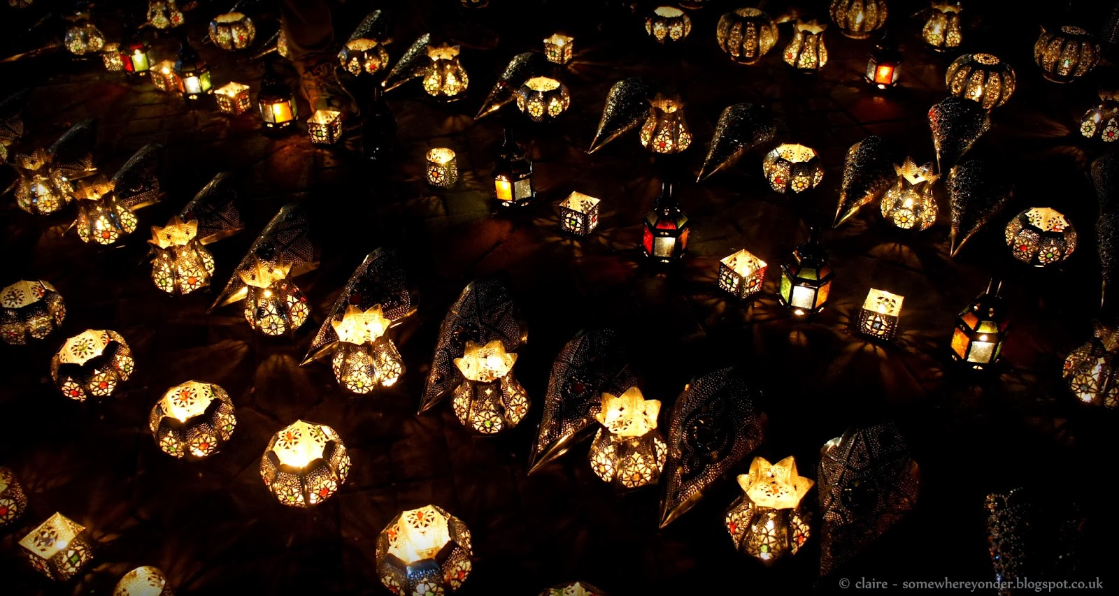 Twinkling candle light holders - Djemaa El-Fna Marrakech
