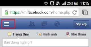 Lướt facebook trên trình duyệt mobile