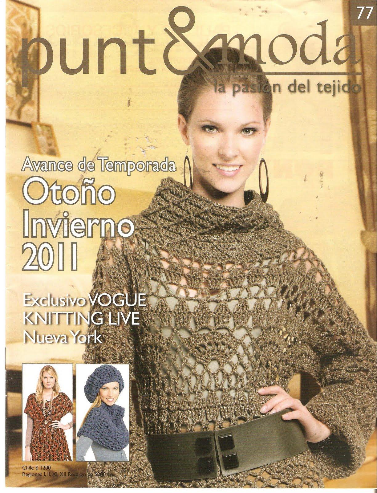 Revista  Punto Y Moda 77  Oto  O Invierno  Preciosos Modelos