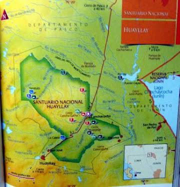 """Santuario Nacional """"Huayllay"""" Ubicación geográfica"""