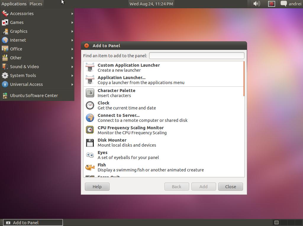ubuntu installer un bureau classique. Black Bedroom Furniture Sets. Home Design Ideas