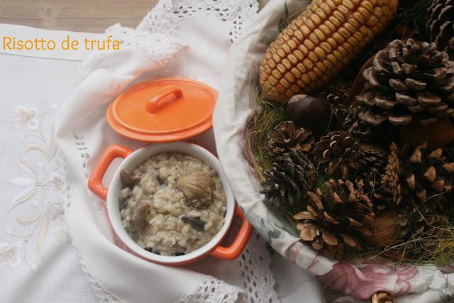 risotto de trufa, risotto de setas,risotto, aceite de trufa