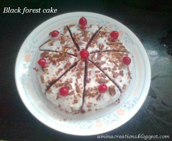 Cake Black Forest How To Make : AMINA CREATIONS: HOW TO MAKE BLACK FOREST CAKE AT HOME