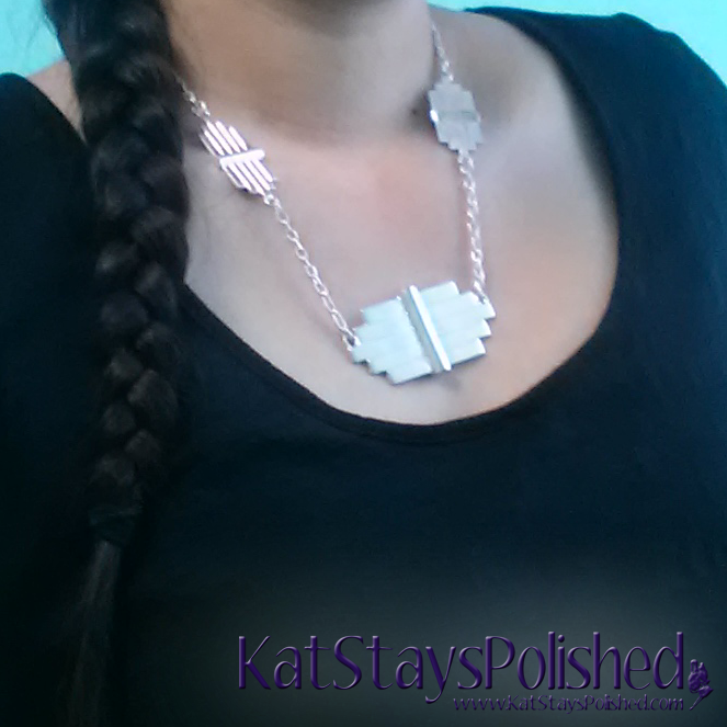 Wantable August 2014 Accessories - Shanny Necklace | Kat Stays Polished