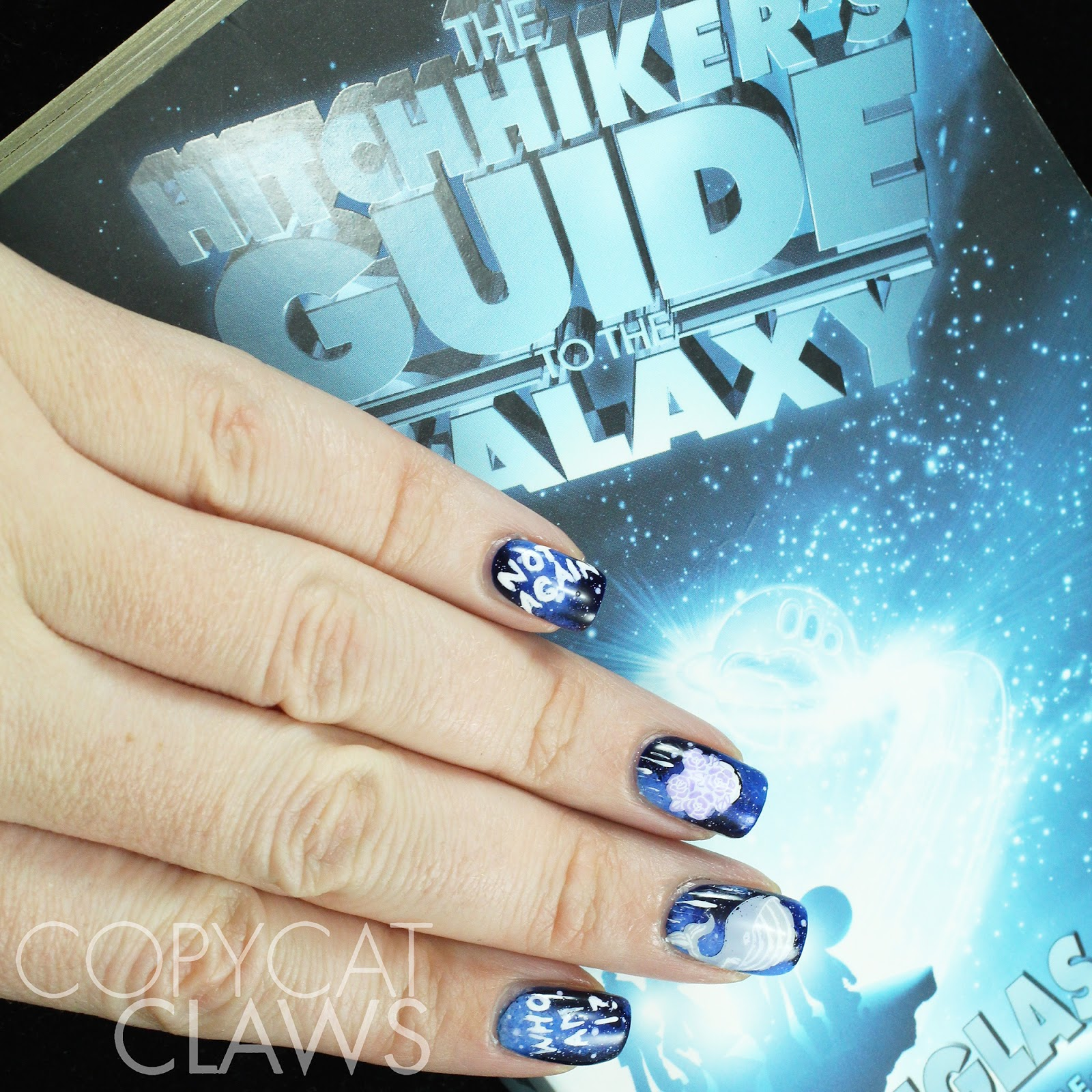 Nail art guides images nail art and nail design ideas copycat claws the hitchhikers guide to the galaxy nail art prinsesfo images prinsesfo Choice Image