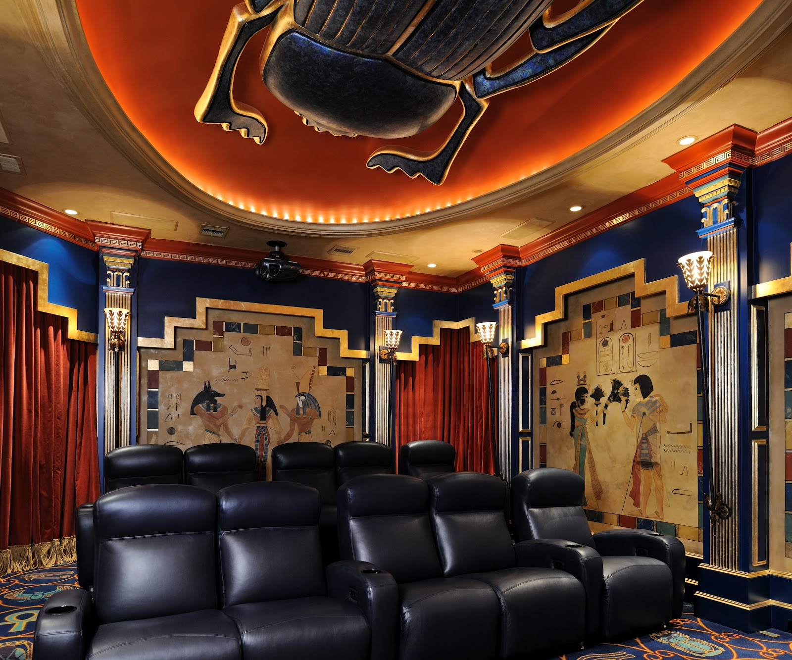 Art Deco Movie Theater Themed Room