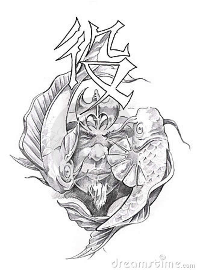 Japanese tattoos japanese tattoo sketch for Japanese tattoo art
