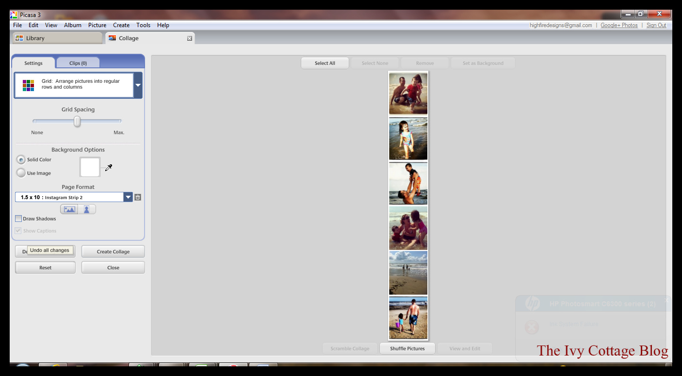 how to change words on photo in picasa 3