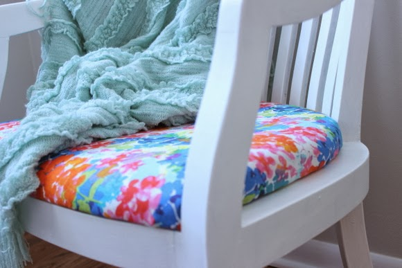 Style it: Reupholstered Chair DIY using Milk Paint | DIY Playbook