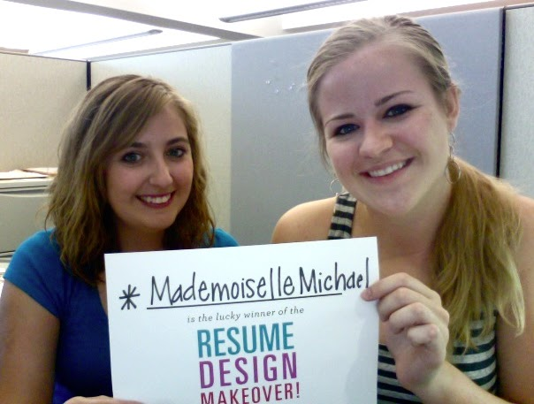 The Lovely Side: Giveaway Winner | Resume Makeover!!