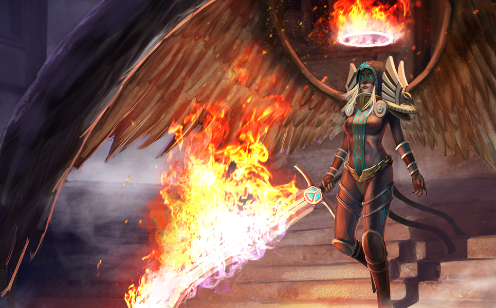 the art of young kim kayle league of legends