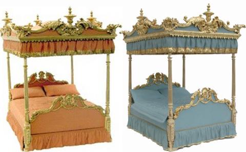 DORMITORIOS ROBERT ADAM STYLE MUEBLES CAMA ESTILO ADAMESCO via www.dormitorios.blogspot.com