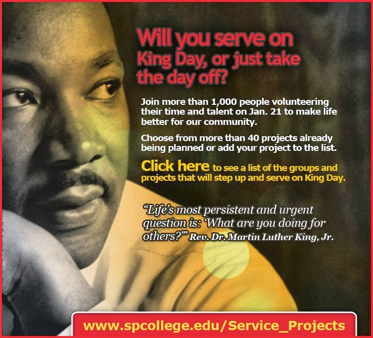 MLK Day of Service Jan 19th, 2015