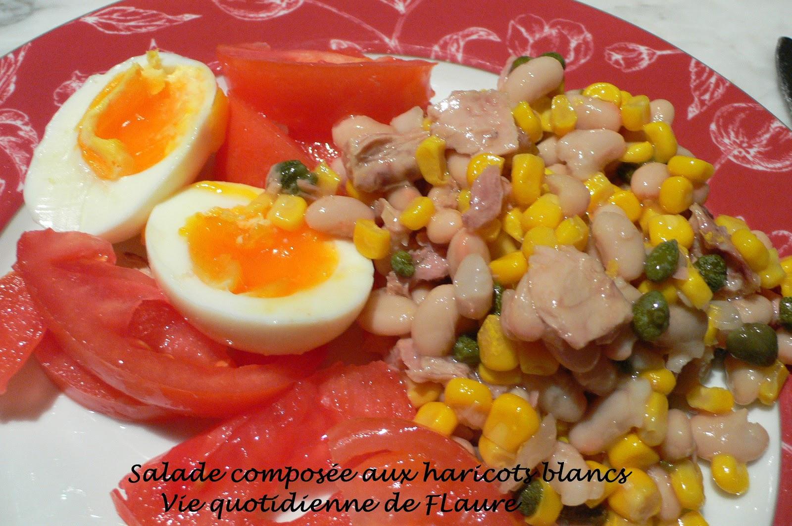salade compose aux haricots blancs