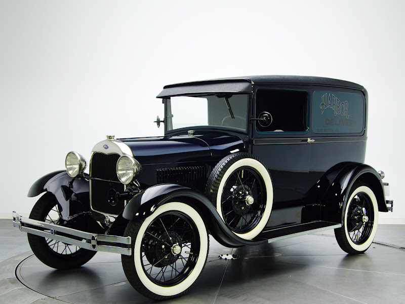 Retro cars ford model a deluxe delivery van 130a 1929