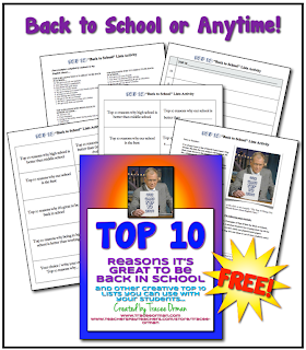 Free Top 10 Lists Activity for Back-to-School or Anytime