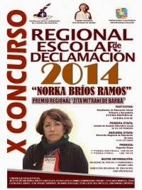 """X CONCURSO REGIONAL ESCOLAR DE DECLAMACIÓN """"NORKA BRÍOS RAMOS"""""""
