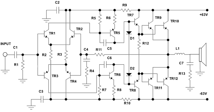 electro circuit  schema  u0026 datasheet  500 watt audio power