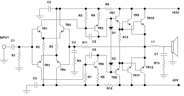 500 watt audio power amplifier