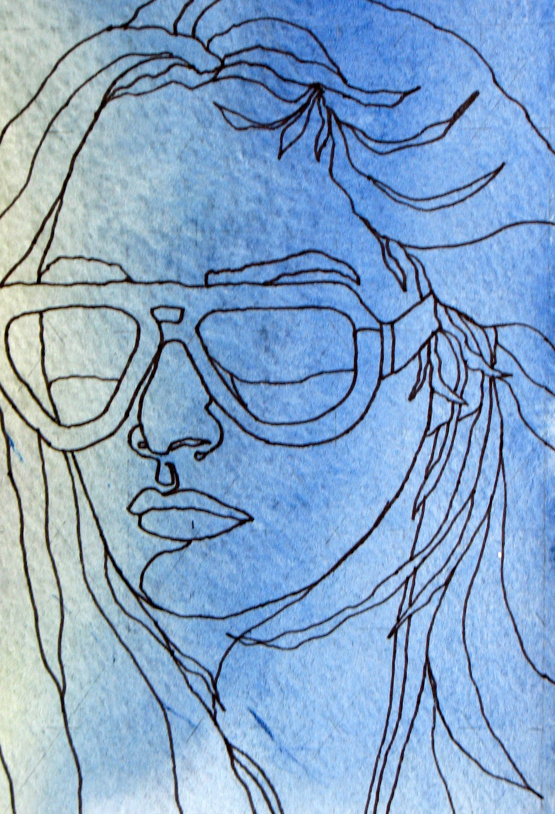 Continuous Line Drawing Of Face : The painted prism day project a face