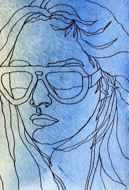 Contour Line Drawing Face : The painted prism day project a face