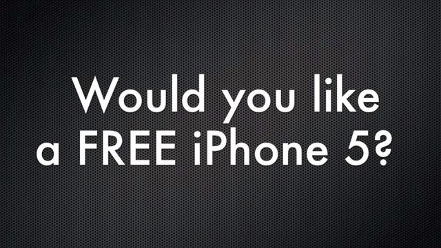 How To Win Free iPhone 5 Online?