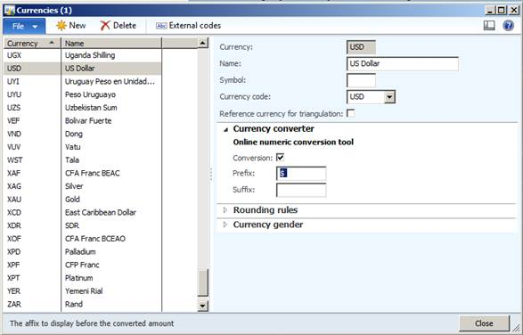 Ms Dynamics Ax 2012 Currency And Exchange Rate Setup In Ms Dynamics