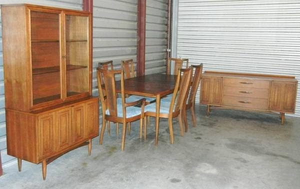 Mad For Mid Century Broyhill Sculptra Dining Room Set Sale