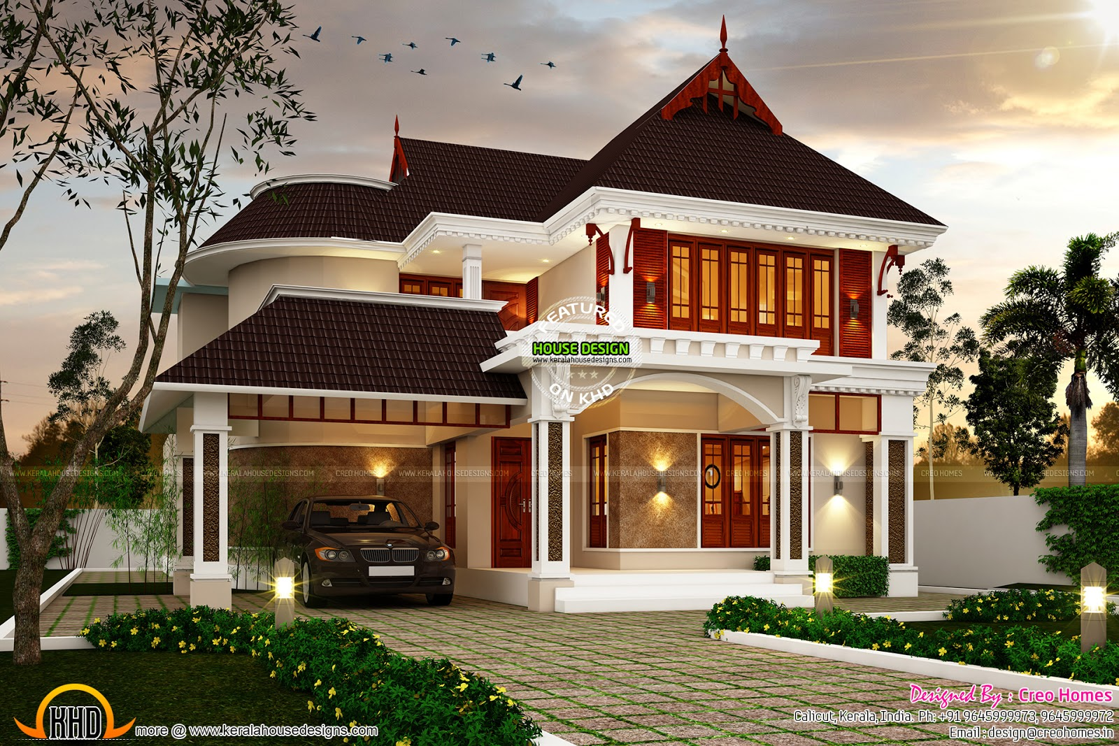 Image gallery kerala dream home for New model veedu photos