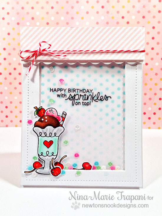 Ice Cream Birthday Card by Nina-Marie Trapani | Summer Scoops Stamp set by Newton's Nook Designs