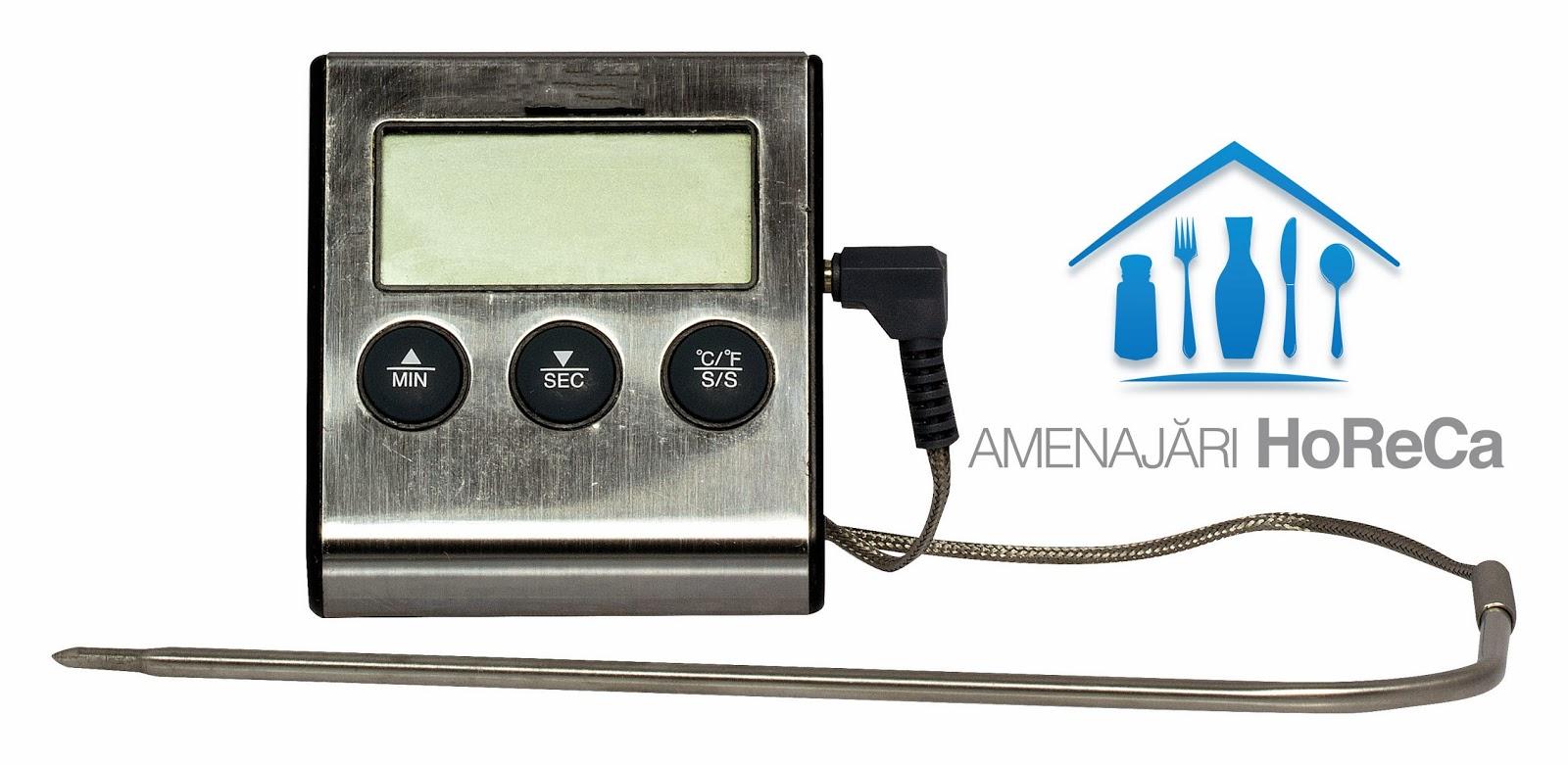 Termometru bucatarie, termometru cu sonda, Termometru timer, cronometru