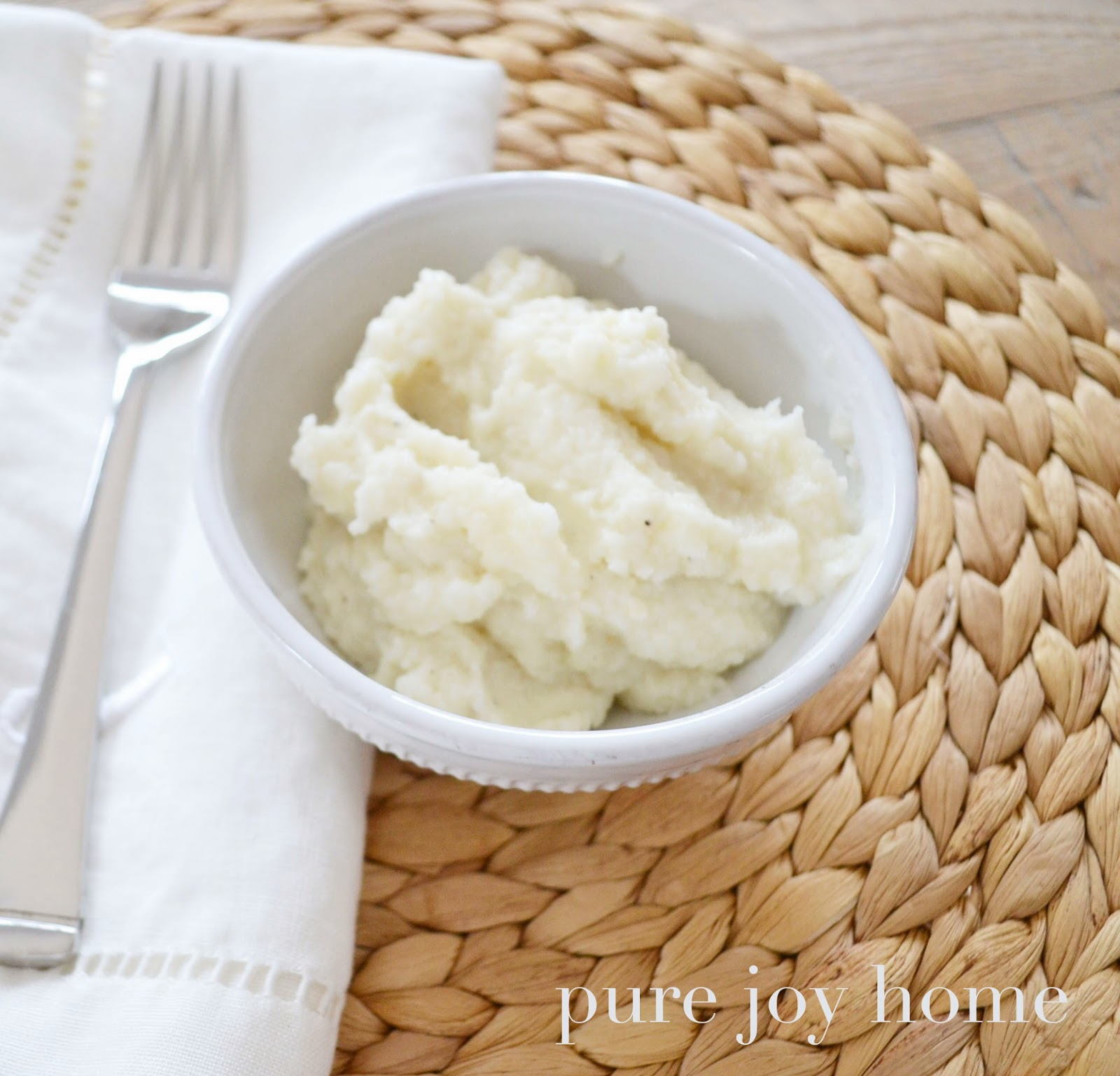 "Pure Joy Home: The BEST Cauliflower ""Mashed Potato"" Recipe"
