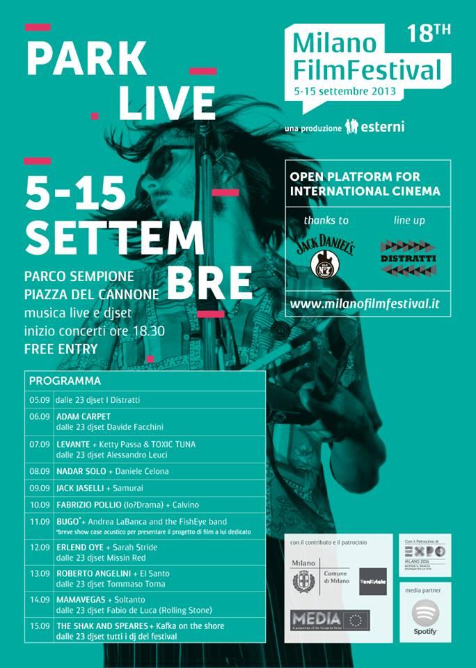 programma di Parklive, dal 5 al 15 settembre concerti gratuiti a Milano Parco Sempione
