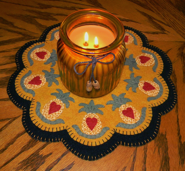 Unique Penny Rugs ~ Candle Mats & Patterns