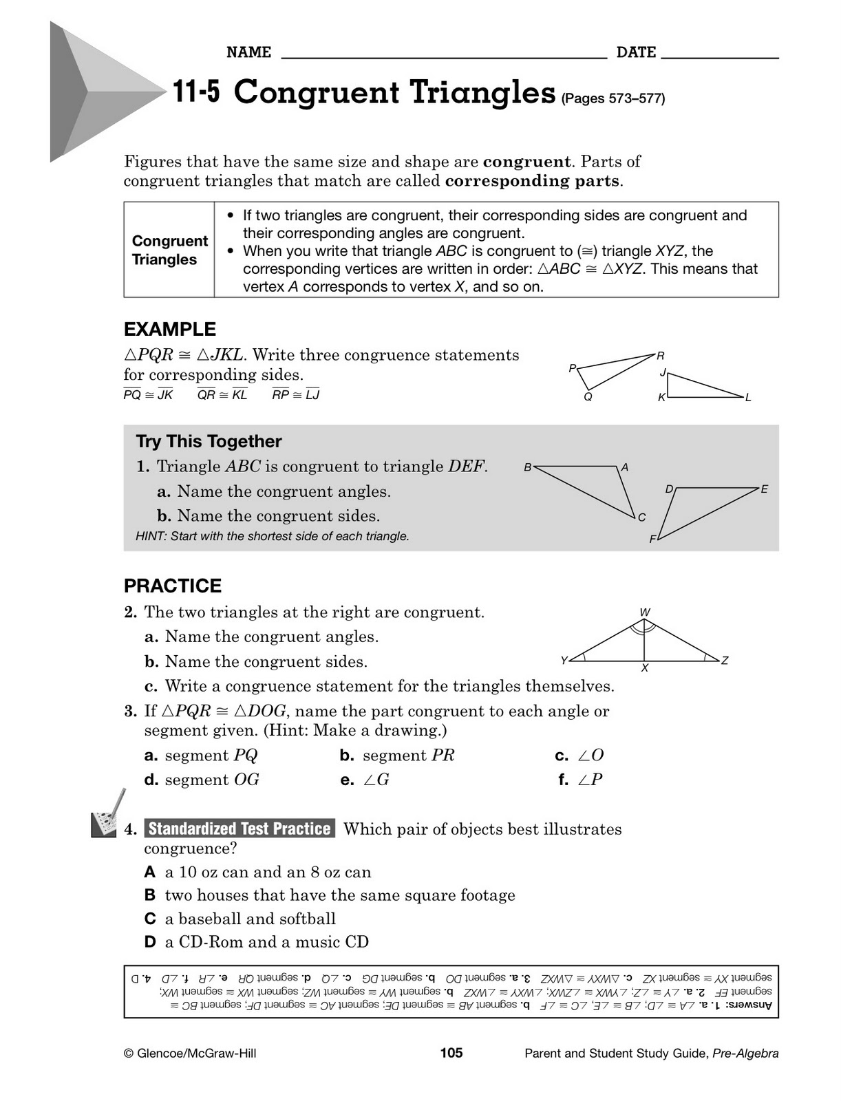Welcome to MrsDixons class November 2011 – Mcgraw Hill Worksheets