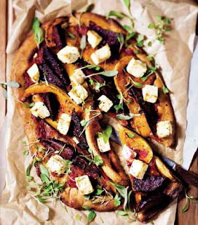 Pizza With Butternut, Beetroot and Feta