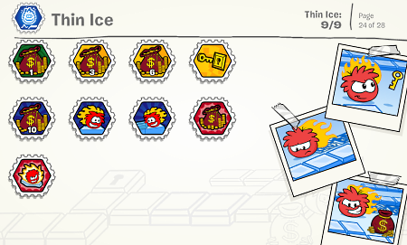 Club Penguin Thin Ice Stamp Cheats