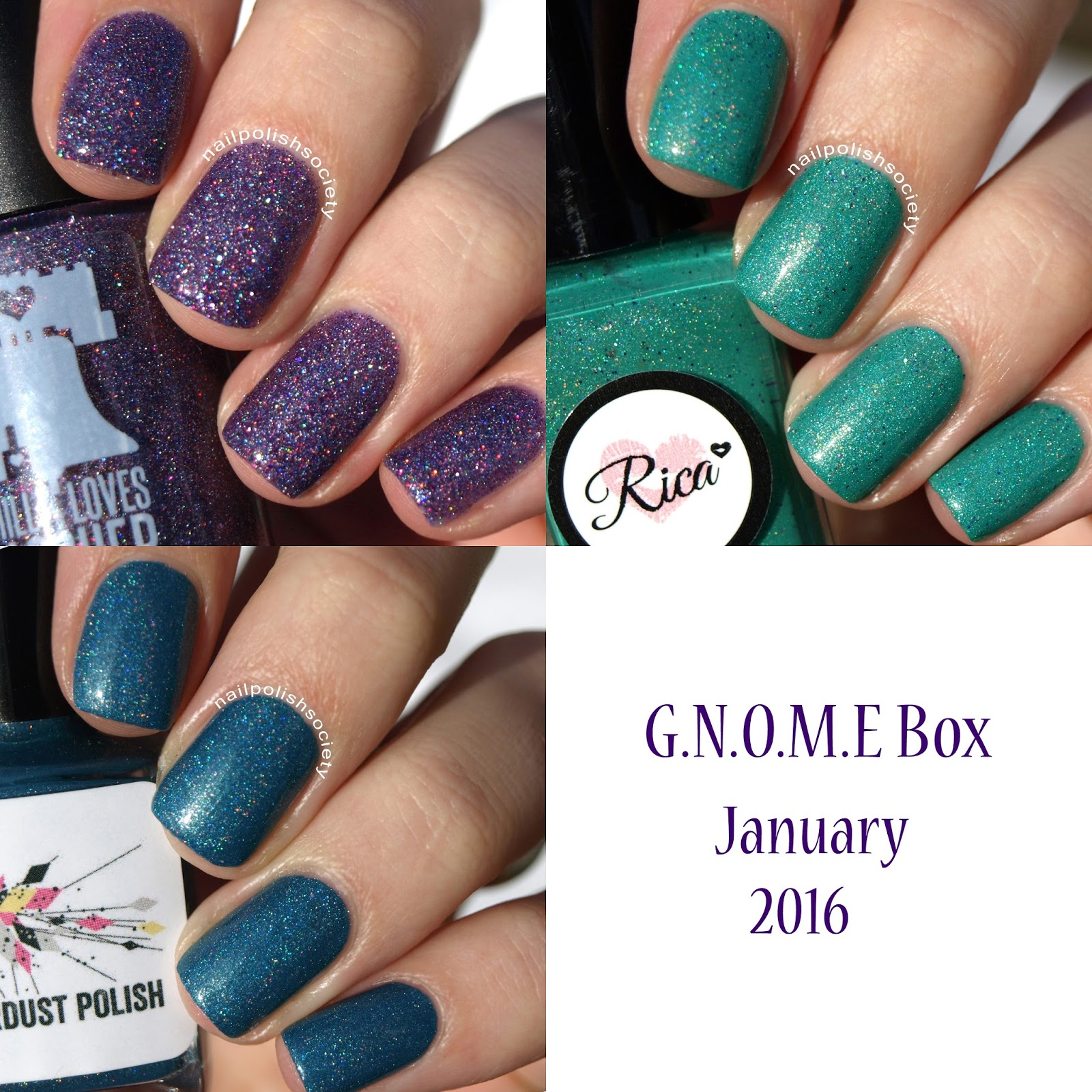 Nail Polish Society: G.N.O.M.E. Box January 2016