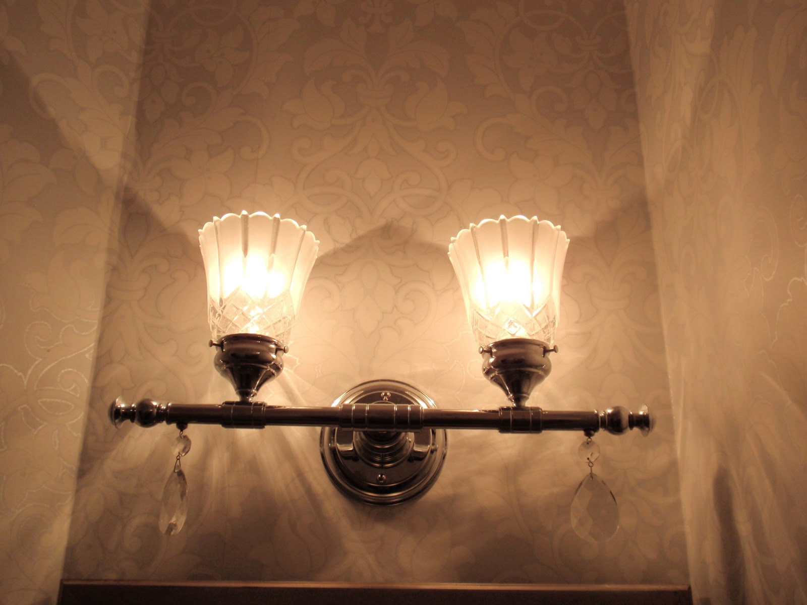 Diy by design bathrooms for Bathroom light fixtures home depot